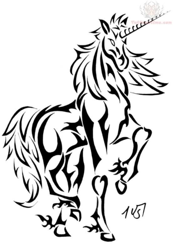 Tribal Pattern Tattoos Unicorn Tattoo Design
