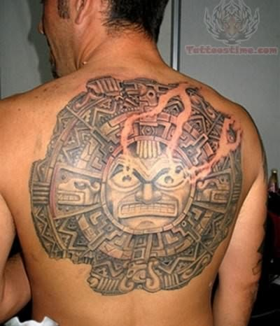Back Body Taino Sun Tattoo