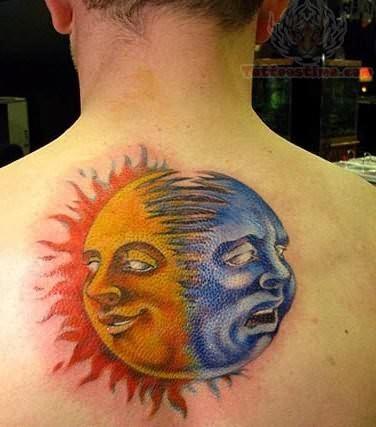 Taino sun tattoo images designs for Half sun half moon tattoo