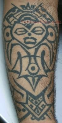 Taino Sun Tattoo On Arm