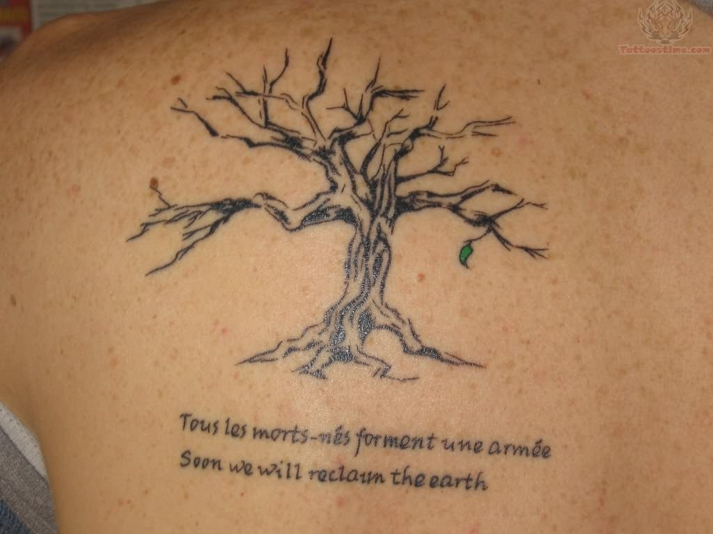 Back Shoulder Tree Tattoos