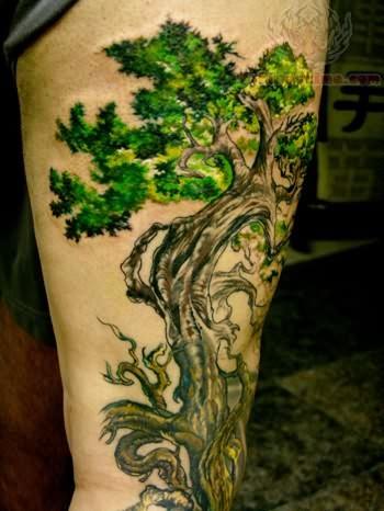 Green Tree Tattoo Designs
