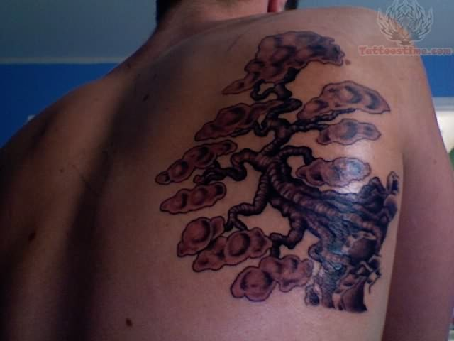 Back shoulder tree tattoos for Tree shoulder tattoo