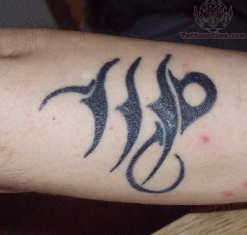 Tribal virgo zodiac tattoo for Virgo tribal tattoo