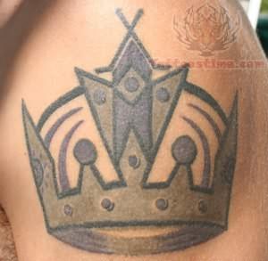King Crown Tattoo On Shoulder
