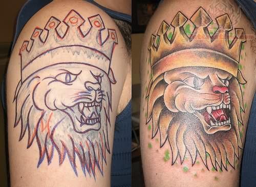 Lion king crown tattoos for Latin kings crown tattoo