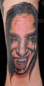 Vampire Scary Portrait Tattoo
