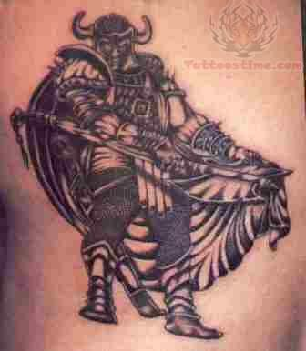 Black Dressed Warrior Tattoo