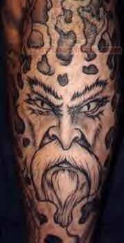 Grey Eyes Warrior Tattoo