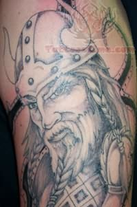 Grey Faced Warrior Tattoo