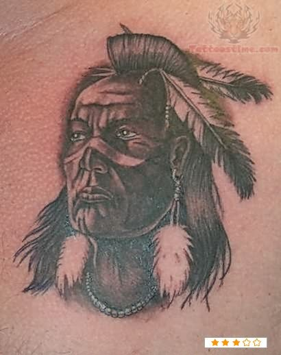 Warrior Native Tattoo