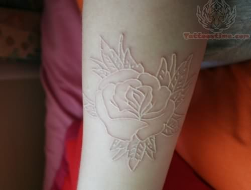 Tumblr White Ink Rose Tattoo