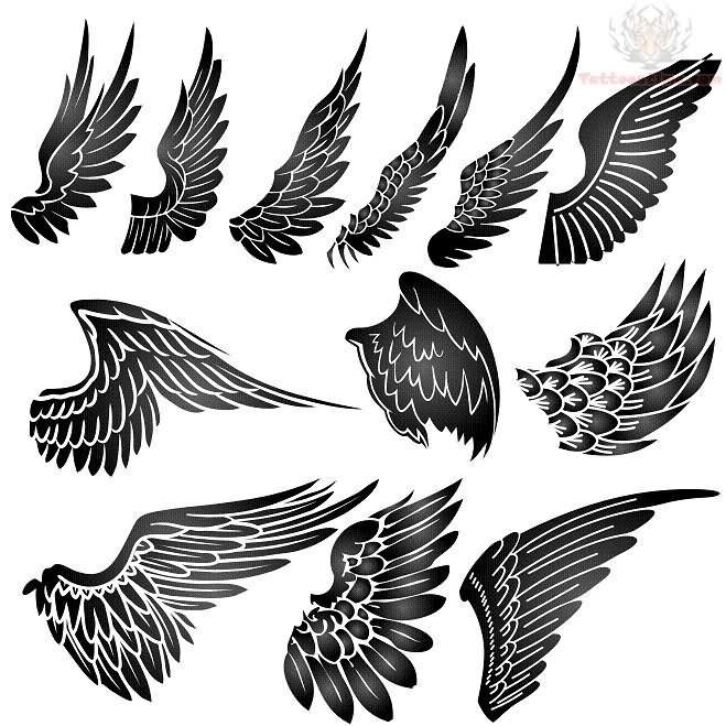 Small Angel Wings Tattoo