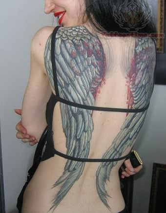Full Back Tattoo Wings