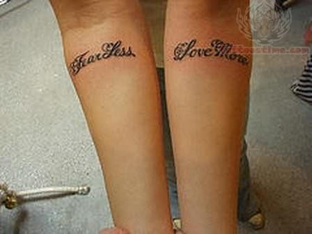 fearless words tattoo. Black Bedroom Furniture Sets. Home Design Ideas