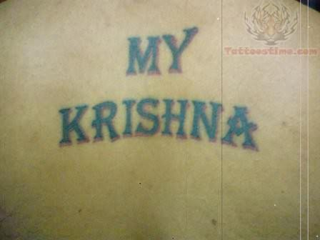 God Krishna Names God Krishna Word Tattoo