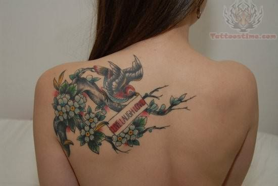 Pictures of Love Bird Tattoos Love Bird Tattoo on Back