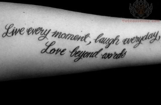 Meaningful Live Laugh Love Tattoo