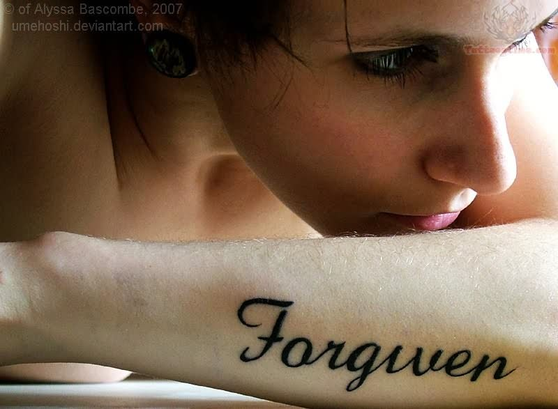 Word Tattoos - Forgiven