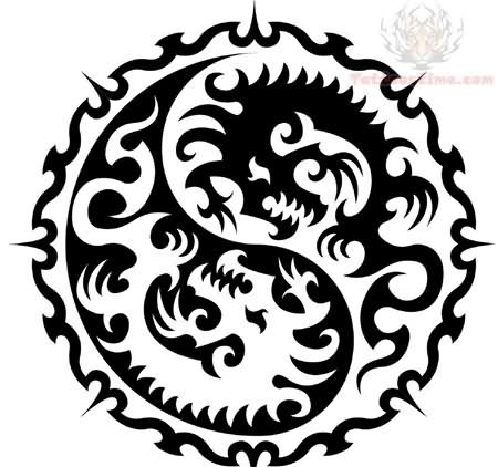 tribal tattoos eagles Ying Yang Tribal Tattoo Design