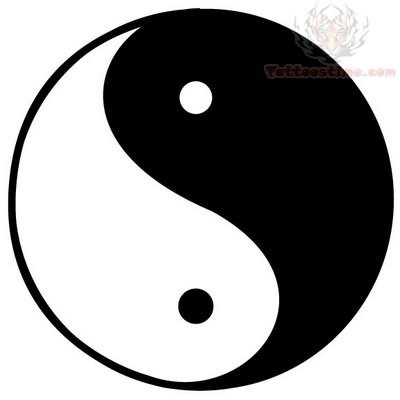 Ying yang tattoo images designs for Architecture yin yang