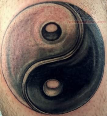 yin yang symbol tattoo design