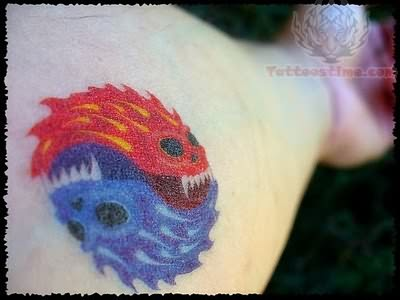 Ying Yang Flame Tattoo Picture