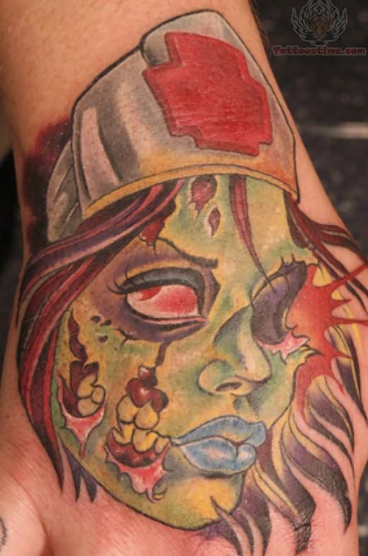 Zombie Tattoo For Hand