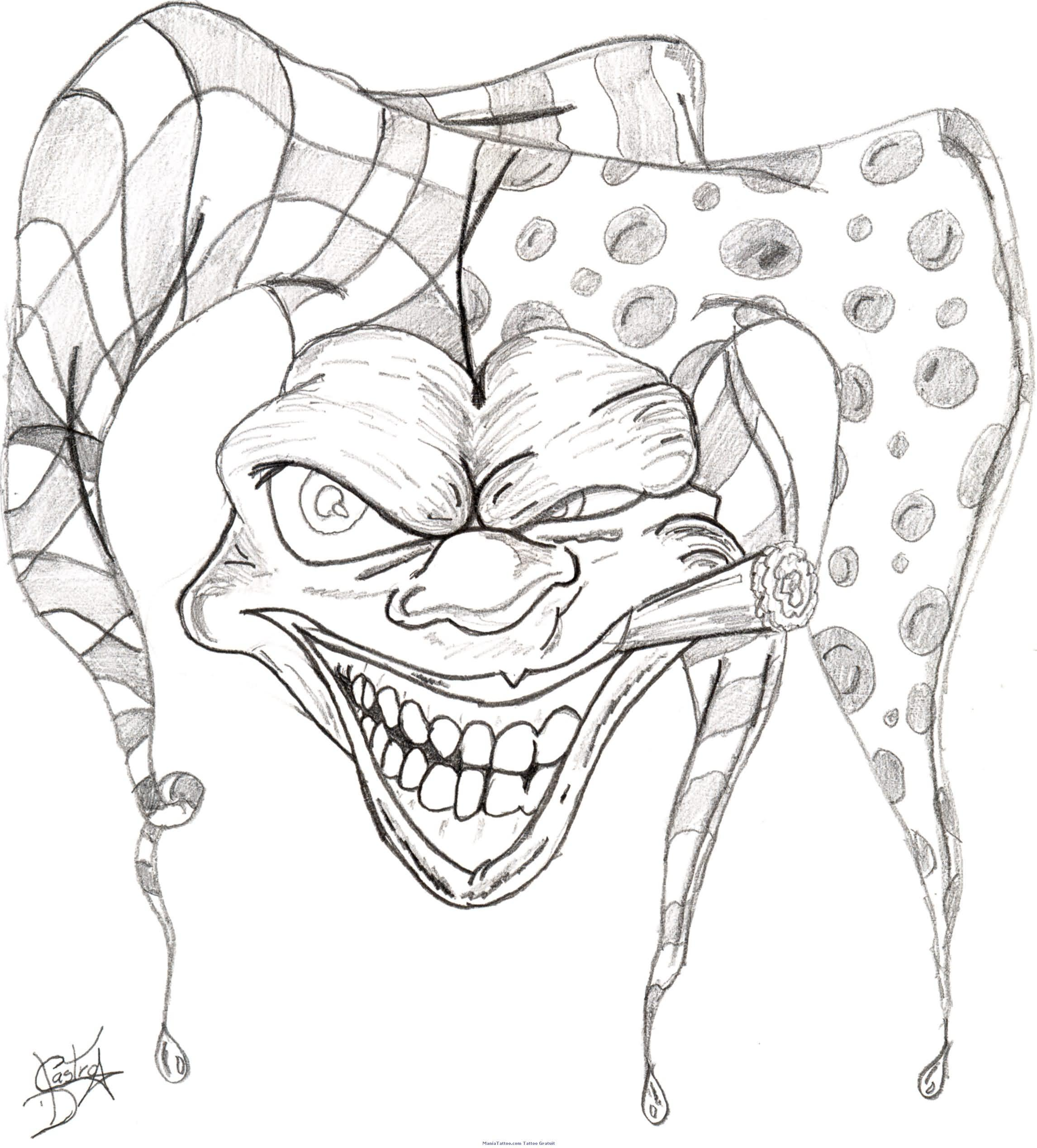 Tattoo Designs Clowns Jokers