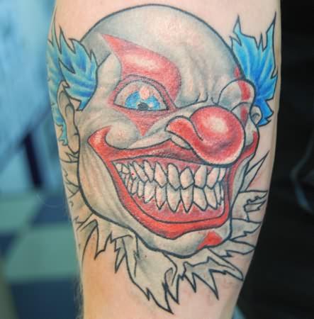 clown tattoos. Black Bedroom Furniture Sets. Home Design Ideas