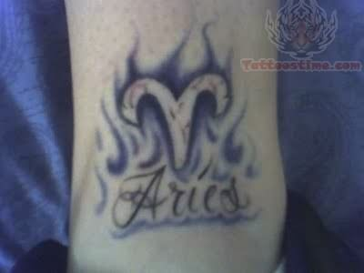 Aries Symbol Tattoos