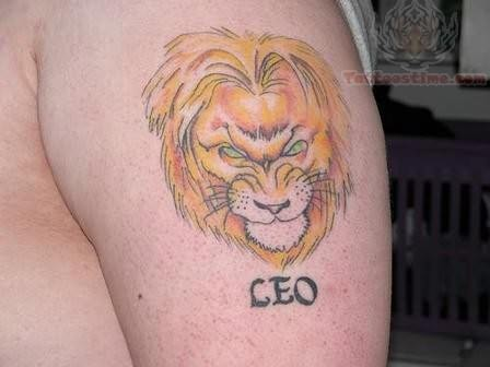 Delighted Leo Zodiac Tattoo