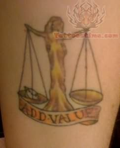 Libra Value Tattoo
