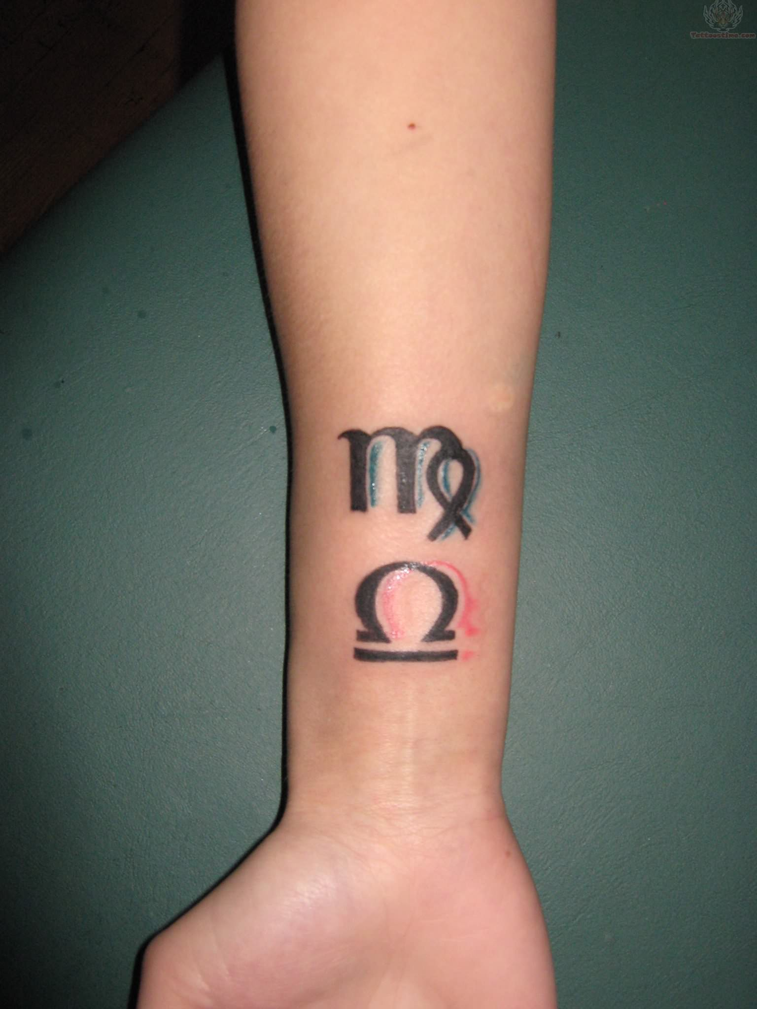 Virgo Sign Tattoo Designs