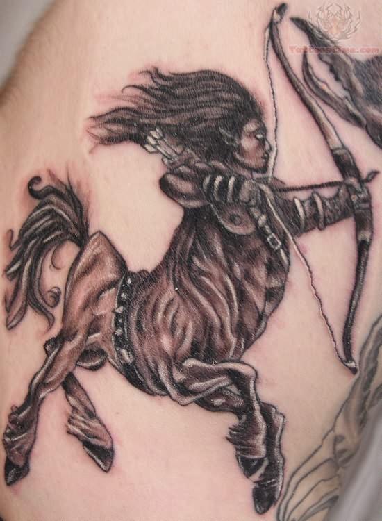 Sagittarius Zodiac Tattoo Designs for Women