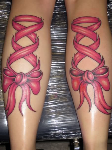 Ribbon Corset Tattoo