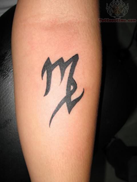 Virgo Symbol Tattoo On Arm