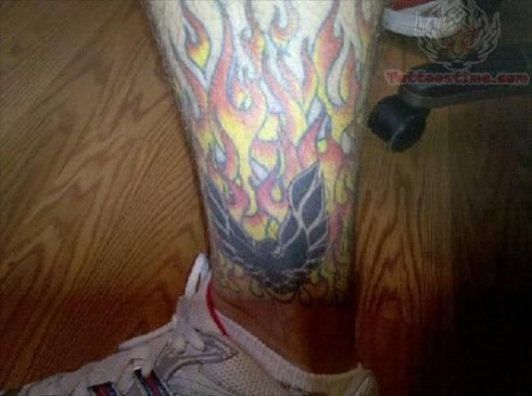 Baxterx Large Flame Tattoo