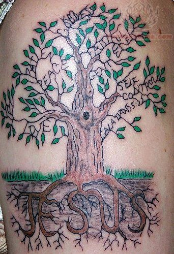 Christian Tree Tattoo Designs