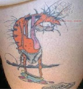 Funny Cartoon Tattoo