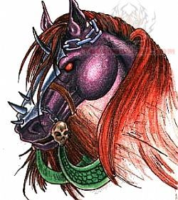 Horse Colored Tattoo Sample