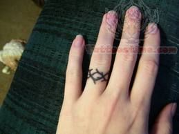 Ring Tattoo On Finger