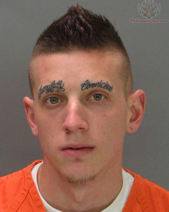 Strange Tattoos On Eyebrow