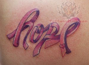 Hope - Breast Cancer Tattoo