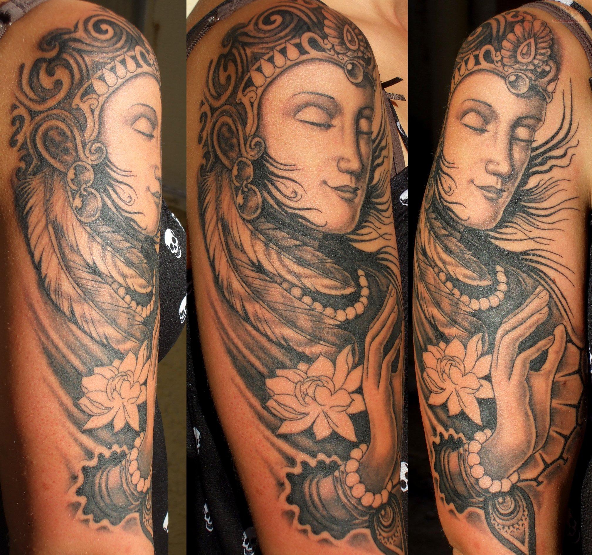 Buddha Tattoos On Sleeve