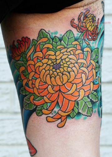 Chrysanthemum Flower Tattoo Picture