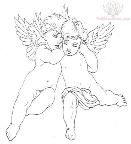 baby cherubs tattoo