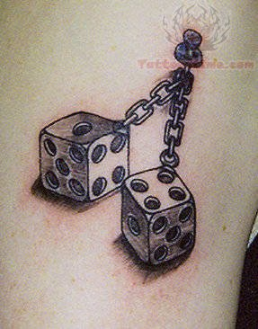 dice pin tattoos. Black Bedroom Furniture Sets. Home Design Ideas