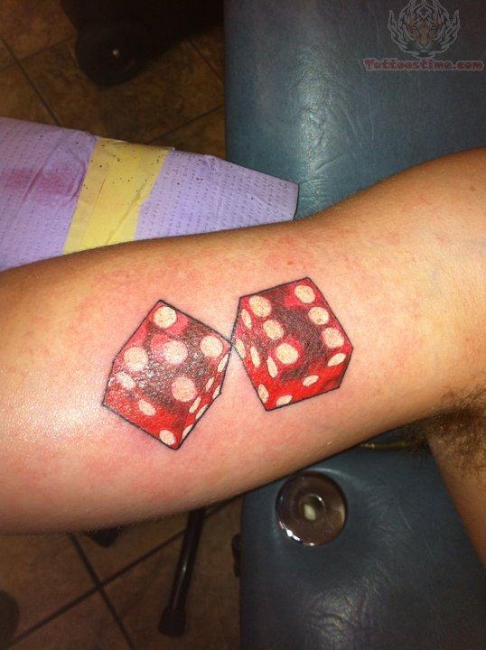 4 5 6 dice tattoo shoulder