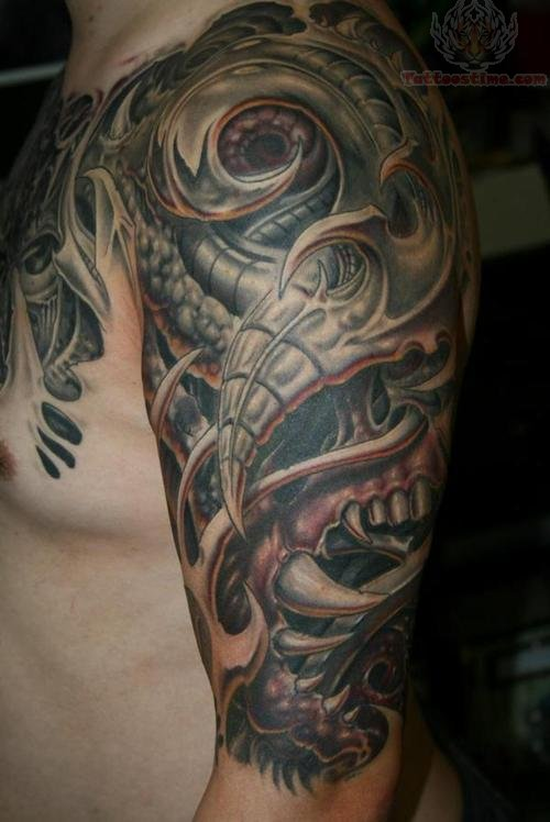 Dragon Half Sleeve Tattoos